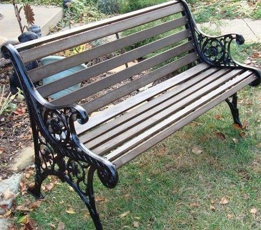 Image Result For Restored Iron Bench Garden Iron Bench Garden