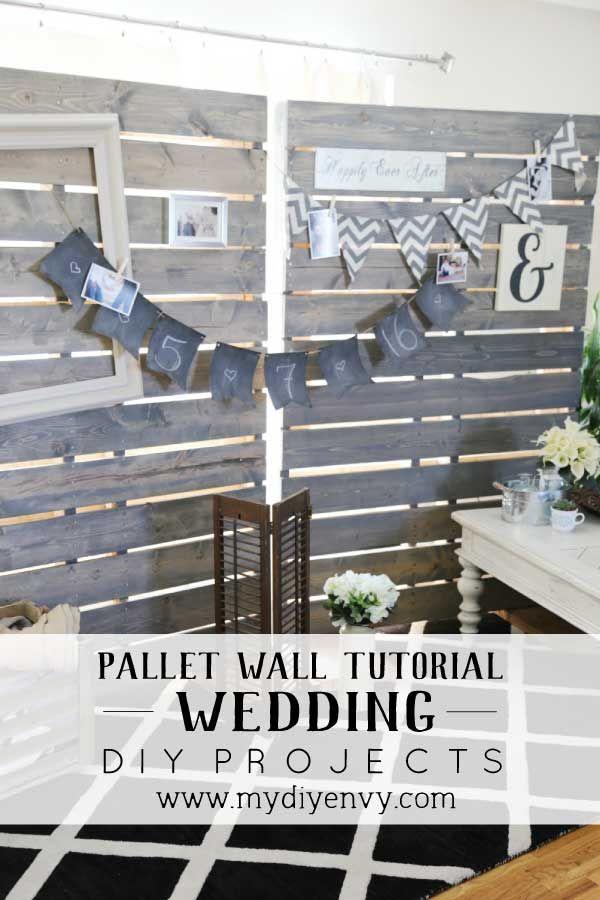 DIY Pallet Wall TUtorial | Pinterest | Colgando marcos de cuadros ...