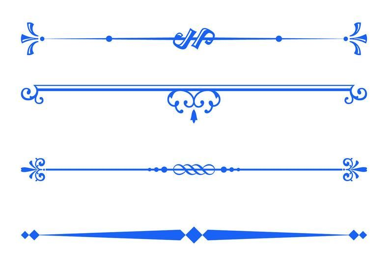 Royal Blue Decorative Text Dividers Clipart Text Divider Etsy Text Dividers Divider Clipart Clip Art