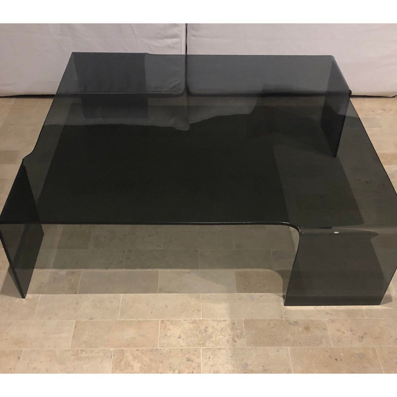 Modern Smoked Glass Coffee Table Chairish Coffee Table Glass Coffee Table Smoked Glass