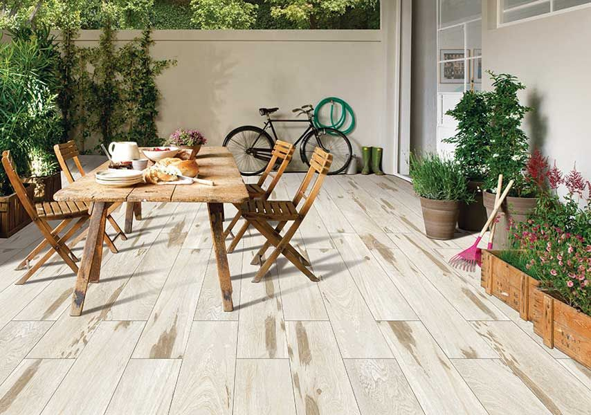 Glazed Vitrified Tiles Kajaria Ebony Olive Wood Look Porcelain Tiles Vitrified Tiles Outdoor Decor Outdoor