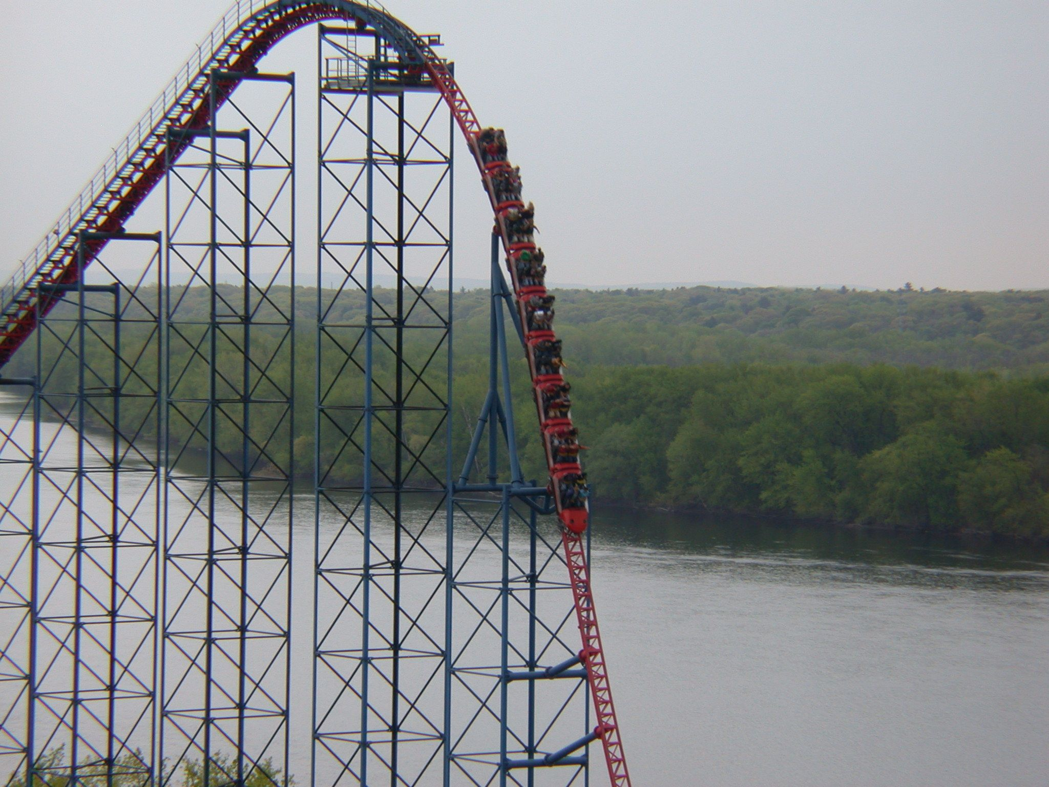Superman Ride Of Steel Roller Coaster At Six Flags New England