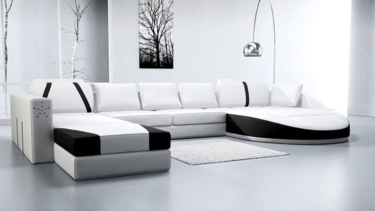 Canapecuirdesignprestigeblancnoir Sofa 沙發 Pinterest - Canape cuir design contemporain