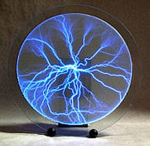 LUMINGLAS: PLASMA PLATE LIGHTNING LAMP Crafted From High Quality Glass  Luminglas Transforms Electric Current Into A Spectacular Array Of Light So  Unique It ...