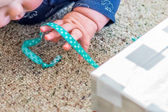 Diy Ribbon Box For Babies Baby Montessori Baby Toys