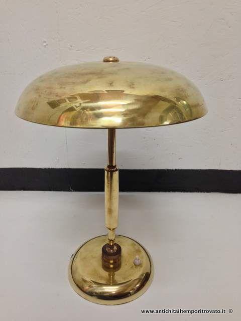 Oggettistica D Epoca Lampadari E Lampade Antica Lampada Da Tavolo