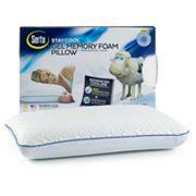 Serta Gel Memory Foam With Cooling Gelhd Pillow Memory Foam Pillow Foam Pillows Gel Memory Foam