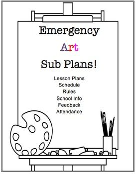 Visual Arts Emergency Substitute Lesson Plans Resources Bundle With Images Art Lessons Elementary Art Sub Lessons Substitute Lessons