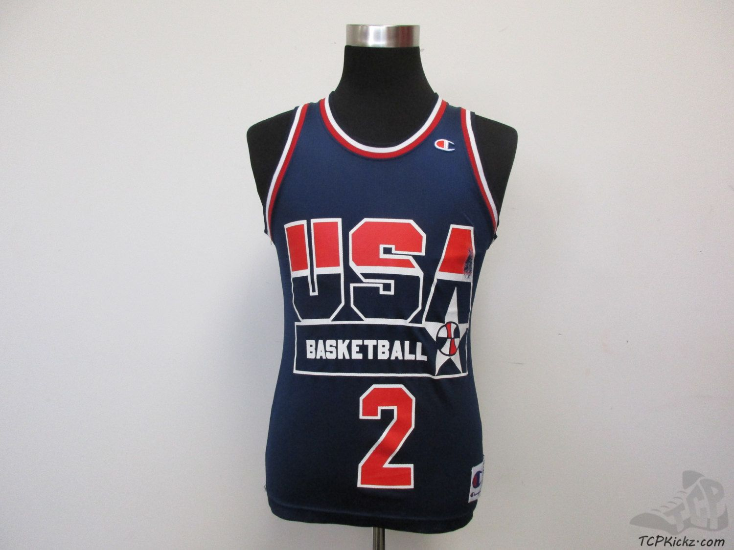 Vtg 90s Champion Usa Dream Team Thomas 2 Basketball