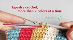 ganchillo tapicería, más de 2 colores a la vez