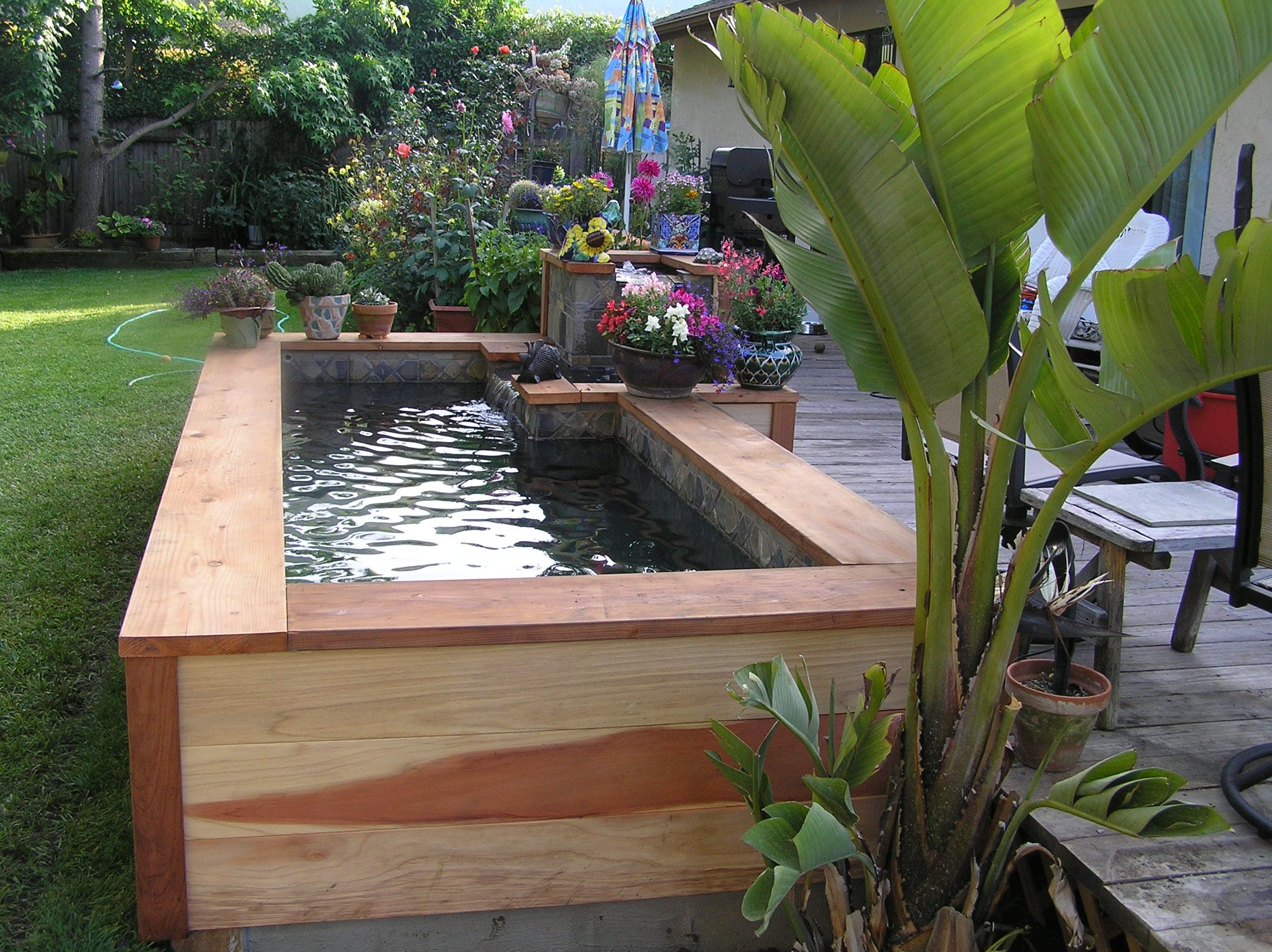 Small backyard fish ponds garden installation ideas for Garden pond installers