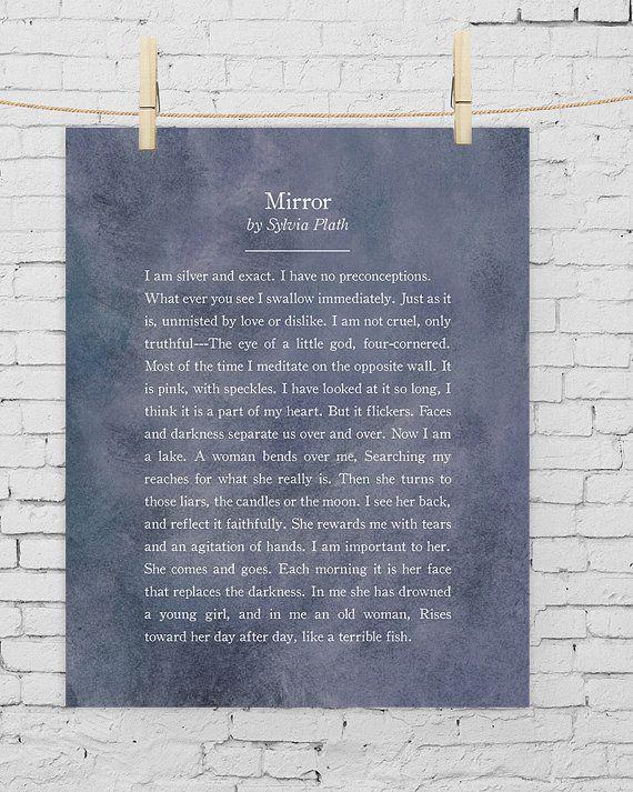 sylvia plath mirror poetry plath sylvia plath sylvia plath mirror poetry