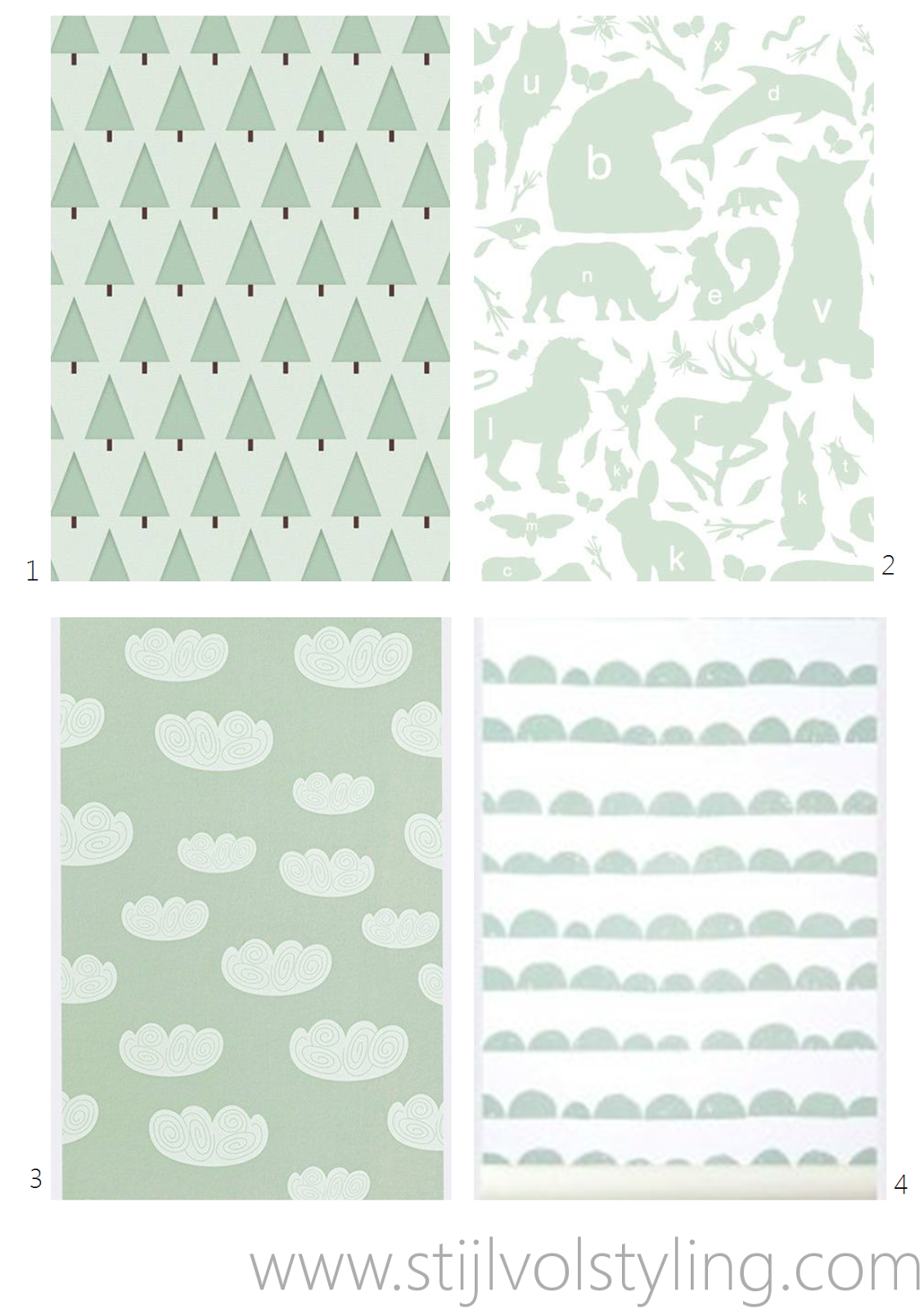 Baby Behang Mintgroen.Interieur Kids Pattern Love Kids Room Toddler Rooms En Kids