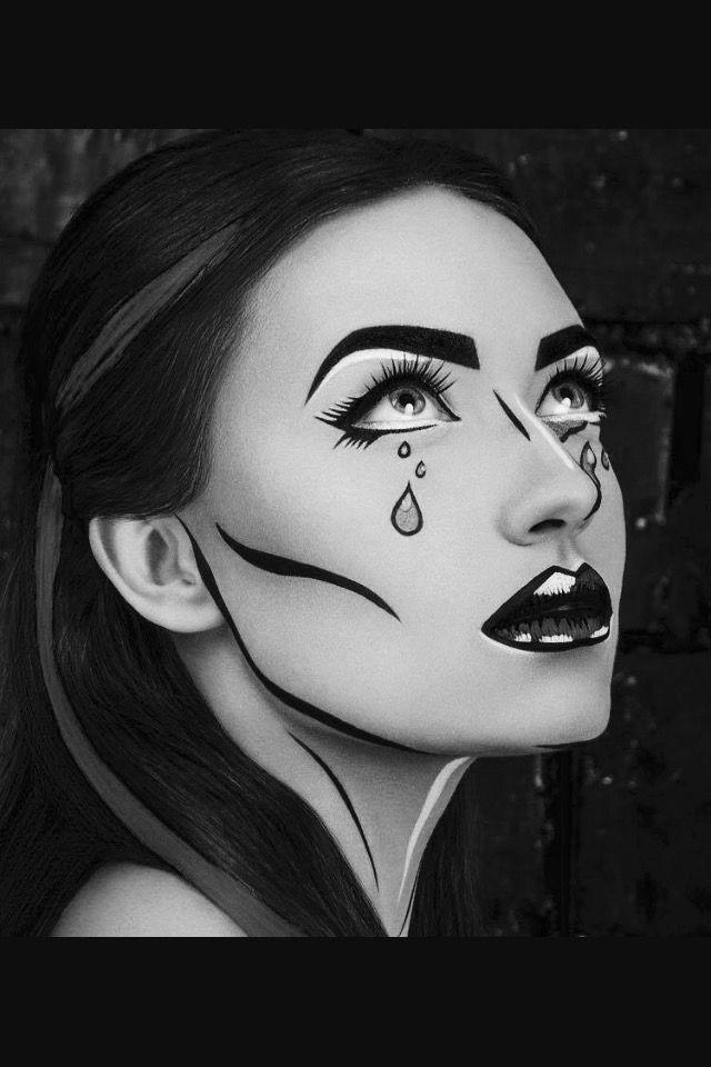 Pin by la Sadgirl westside on Chicana Art Pinterest Airbrush art - easy makeup halloween ideas