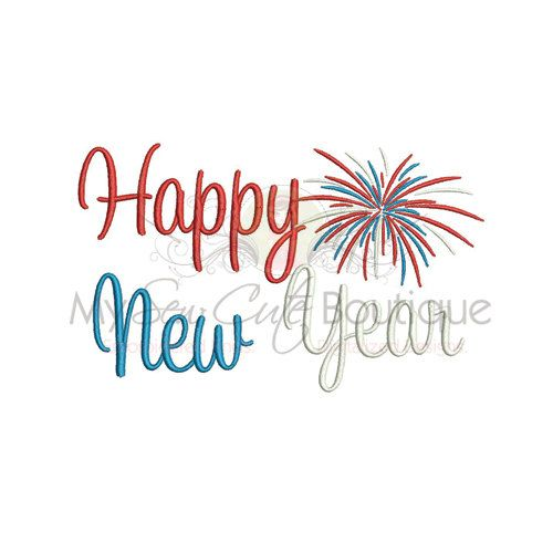 Happy New Year Machine Embroidery Designs Christmas Embroidery Etsy Machine Embroidery Designs Christmas Christmas Embroidery Designs Embroidery Designs