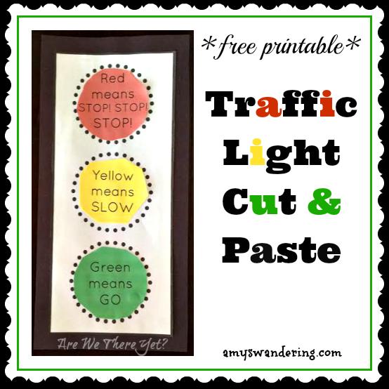 Free Traffic Light Cut Paste Printable Traffic Light