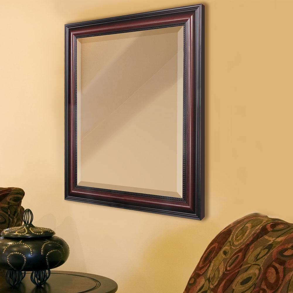 traditional cherry framed mirror mirror wall mirror on mirror wall id=82642