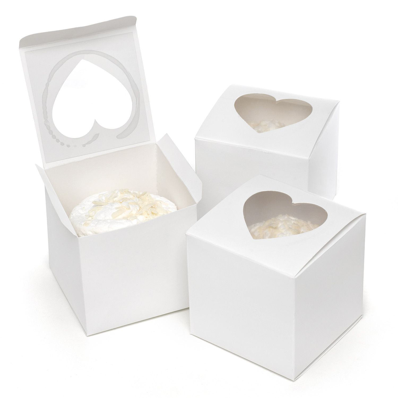 Cupcake Party Favor Box with Peek a Boo Window | Bake sale ideas ...
