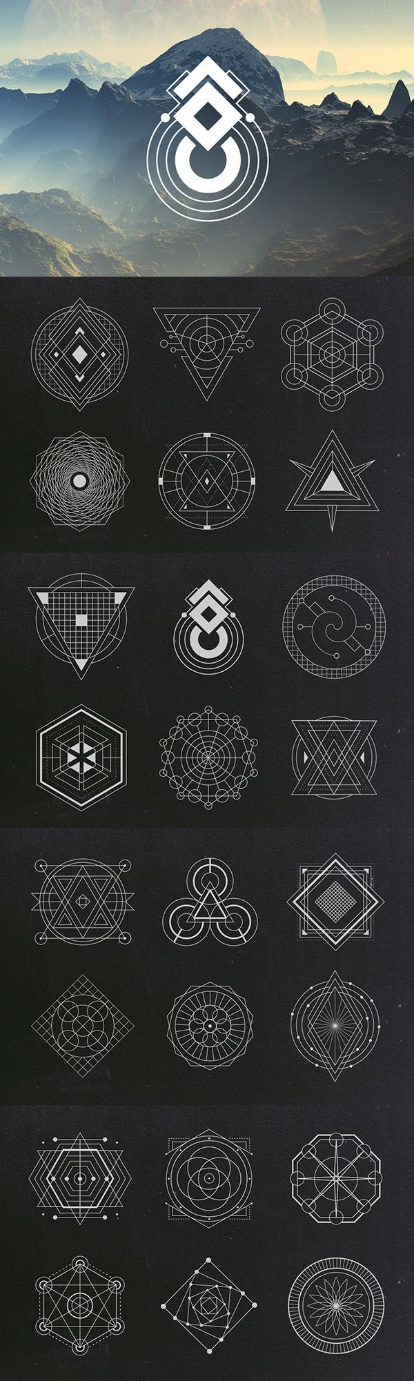 Sacred Geometry Vectors | Graphic Design Elements | Geometric Vector Clipart Images | Blog Graphics | Web Design | Branding Niche | Blogging | Business | Art