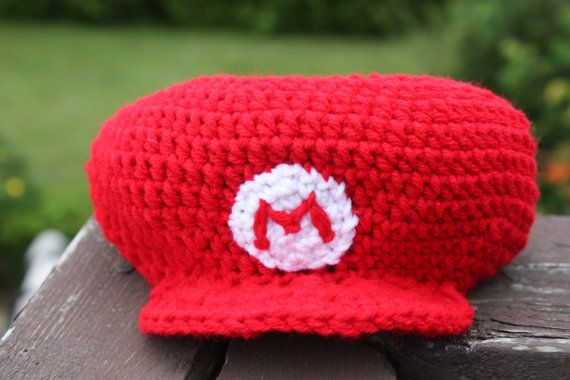 Crochet Pattern Mario Hat Nb To Adult By Crochetingincanada Super