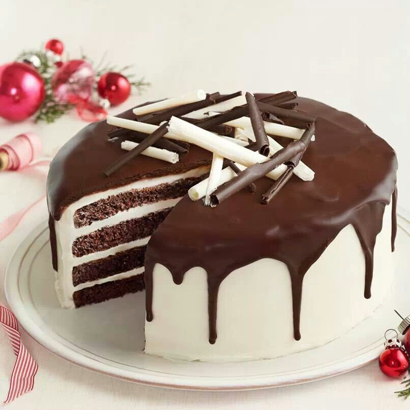 Cake Dessert Recipes With Pictures : Tuxedo cake Recipes-Desserts Pinterest
