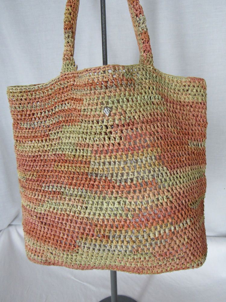 Helen Kaminski Australia Pastel Stripe Raffia Tote Bag Handbag Helenkaminski Totespers