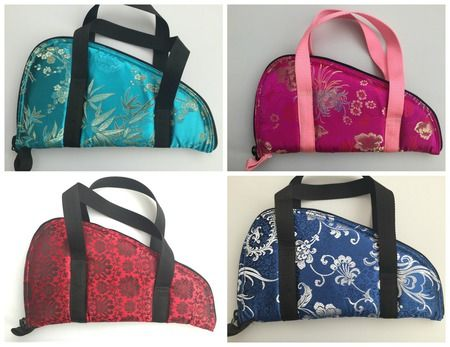 Gorgeous Chinese brocade patterned fabric gun cases are an elegant way to store or carry your firearm.