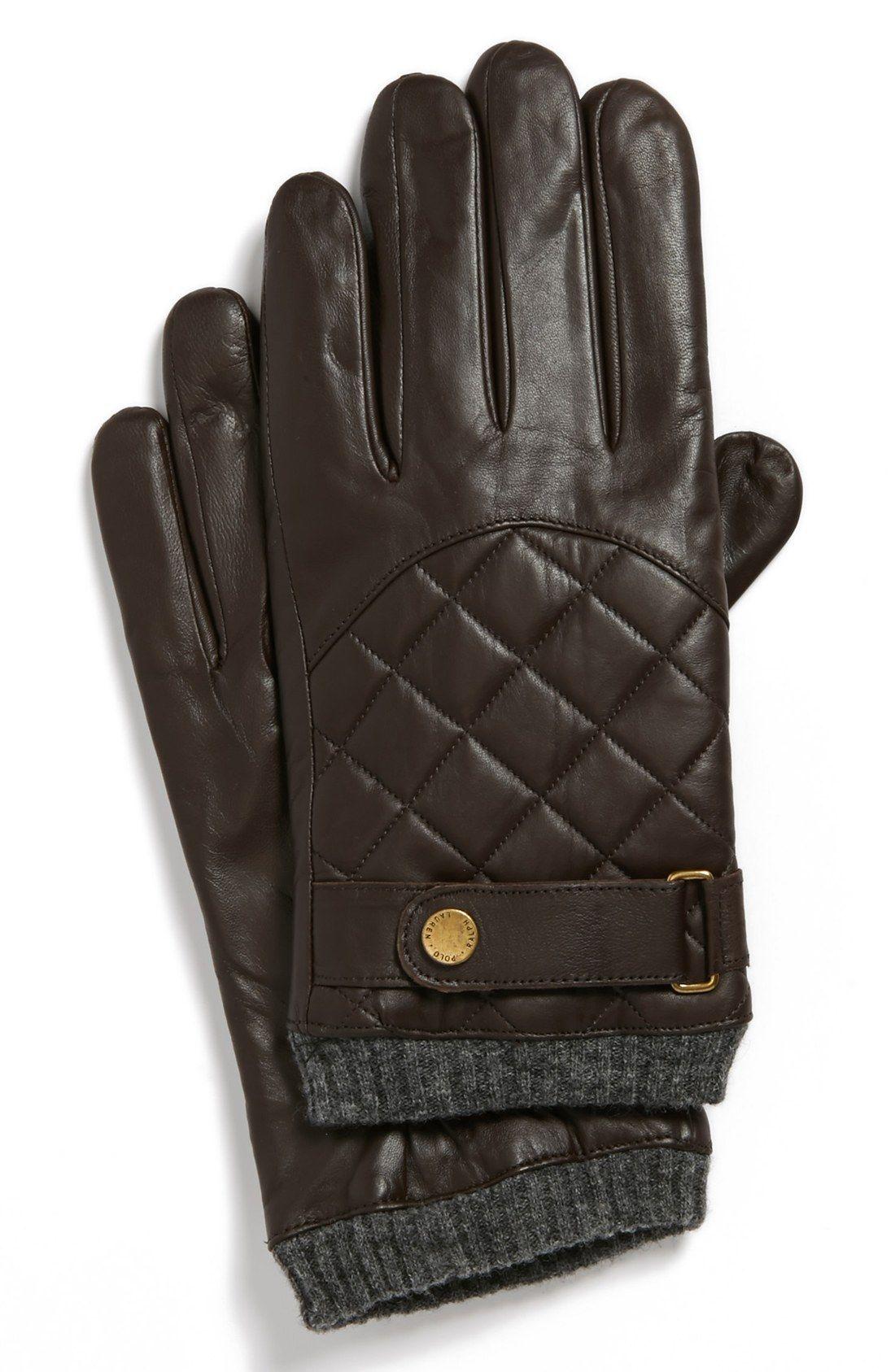 Winter essential for men | Ralph Lauren quilted gloves. | Winter ... : leather quilted gloves - Adamdwight.com