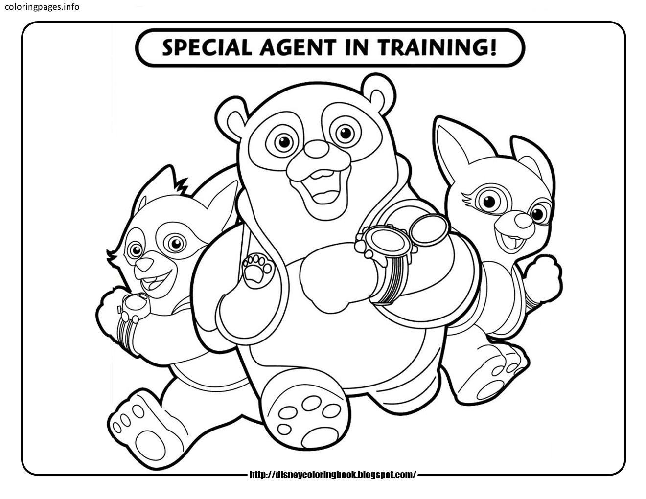 Special Agent Training Oso Coloring Pages | Agent oso coloring pages ...
