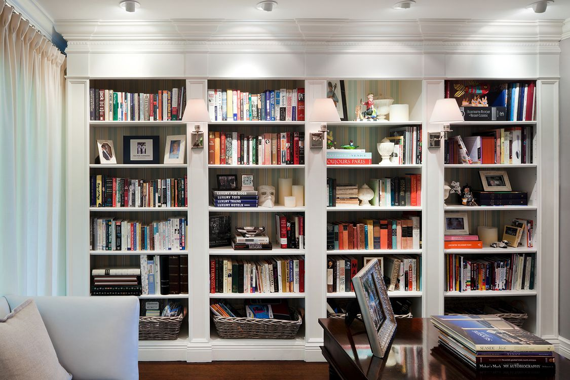 25 Rooms with Stylish Built-In Bookshelves images