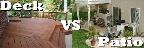 The Great Debate Deck Versus Patio Vs Backyard