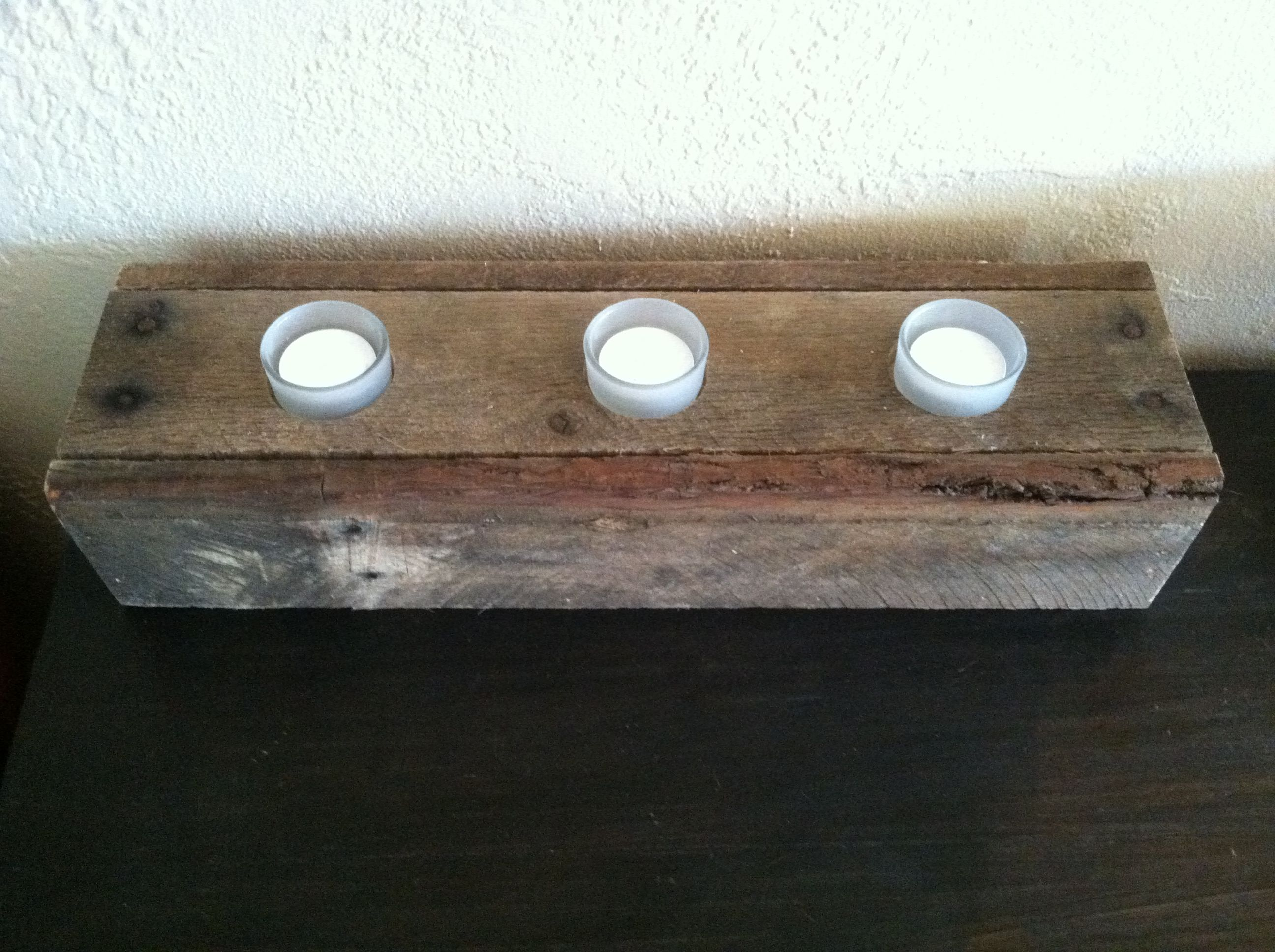 This Is A Candle/storage Box. It Is Made Of Re Purposed Unfinished