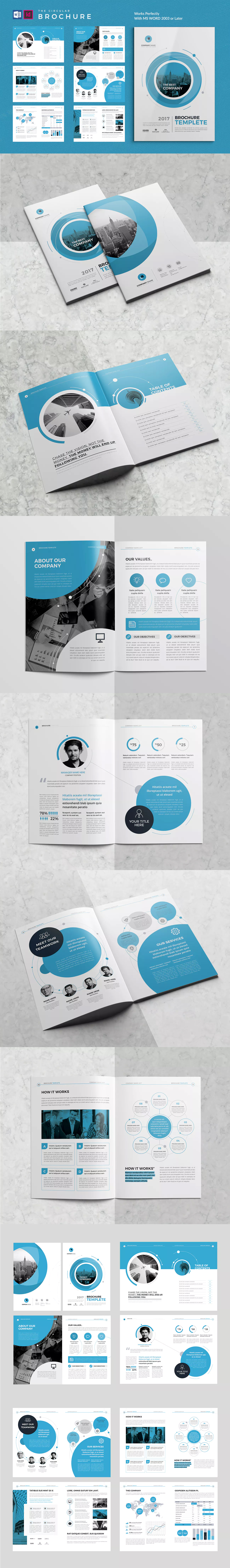 Co Brochure Template InDesign INDD MS Word A4 | DISEÑO | Pinterest ...