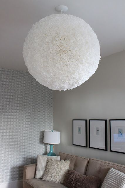 Diy Zorb Lamp Made Out Of A Round Paper Lantern And Coffee Filters Here S