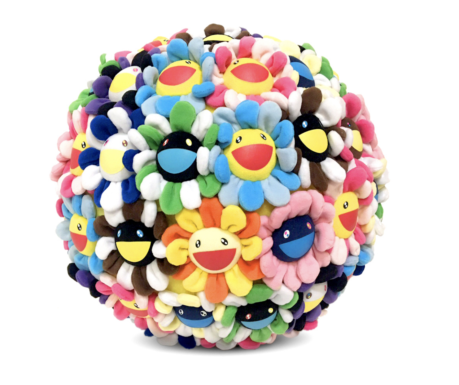 Takashi Murakami Plush Flower Ball Medium 40cm eBay