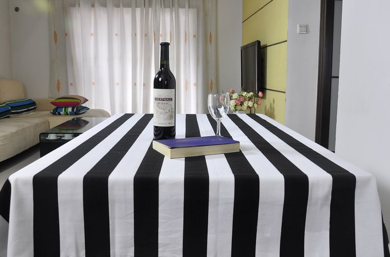 70 70cm Black And White Stripes Tablecloth 100 Cotton Pastoral Style Best Selling Table Covers Table Clo Striped Tablecloths Table Cloth Black And White Baby