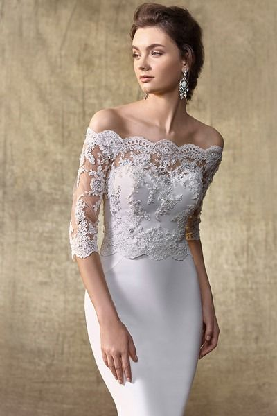 3/4 Length Fitted Wedding Dresses