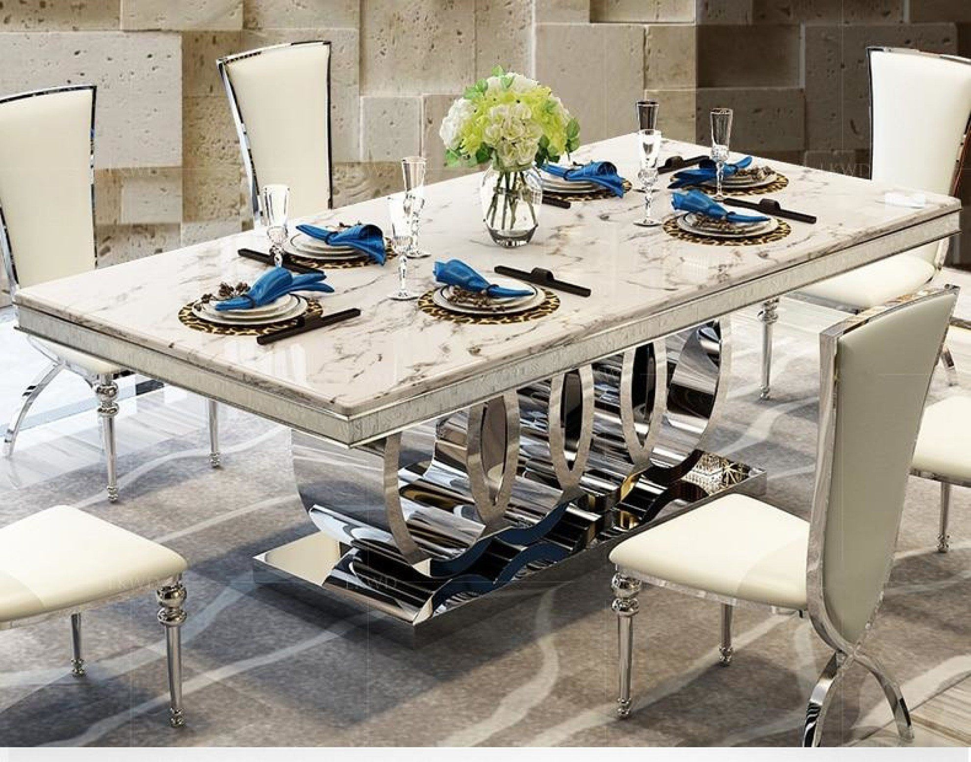 7pcs Rich Look Dining Table Set For Dining Decoration In 2020