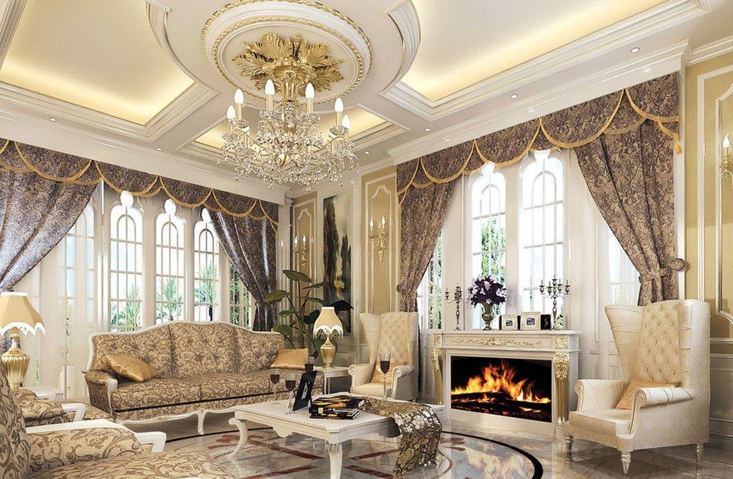 Captivating European Style Luxury Bathrooms | Luxury European Style Living Room With  Fireplace Villa Luxury Bathroom