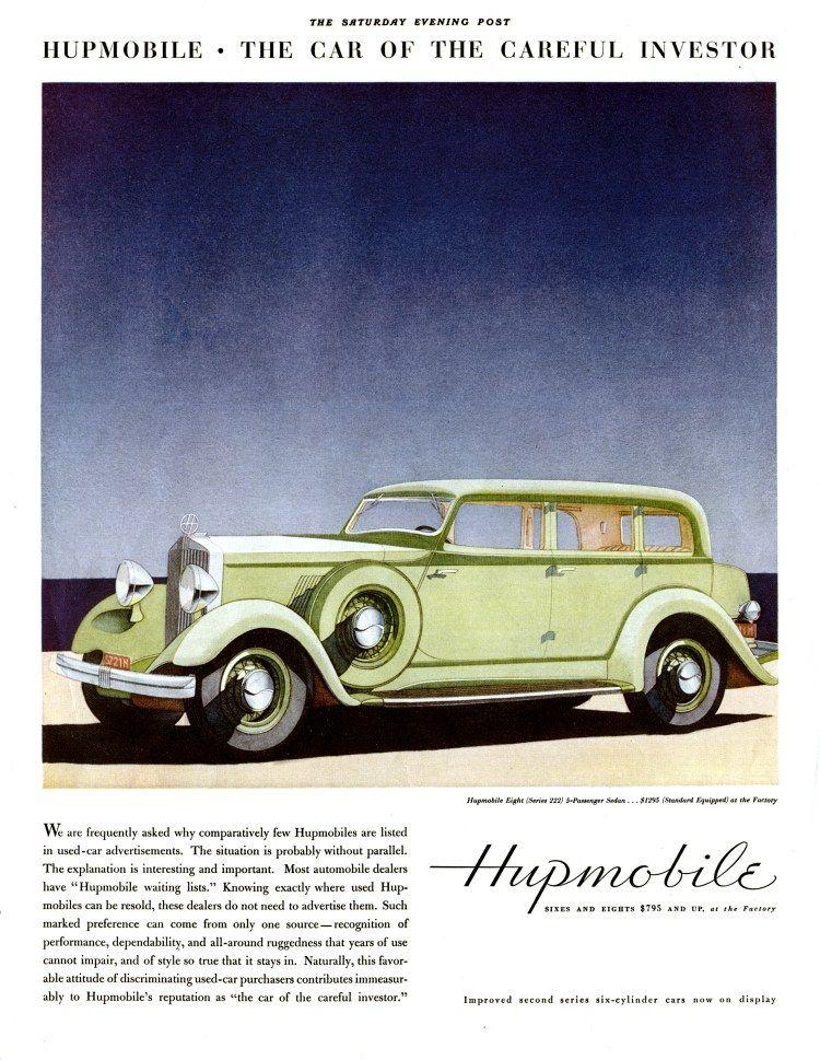 1933 Hupmobile Ad 02 Car Advertising Classic Cars Trucks Car Ads