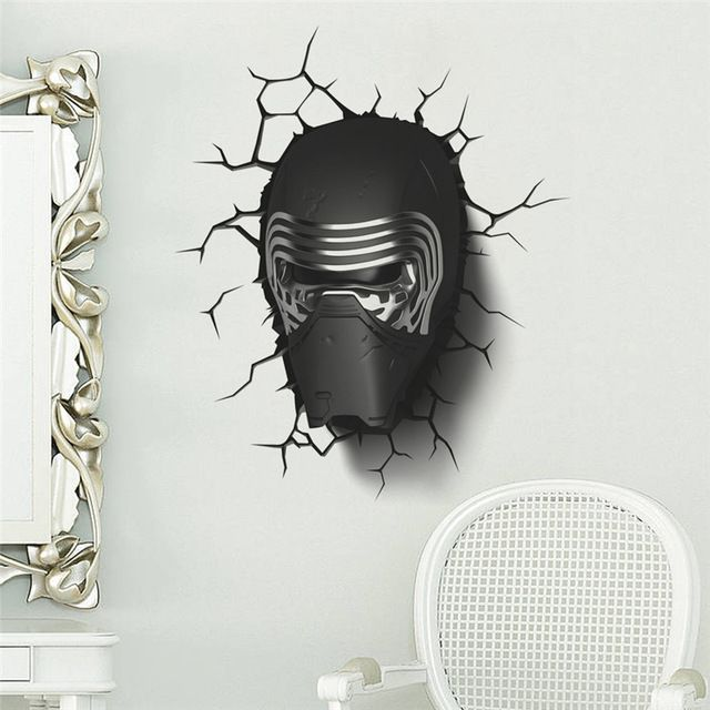 Buy now darth vader broken wall star war movie stickers for kids rooms boy   room decor decals art wallpaper  just only with free also rh za pinterest