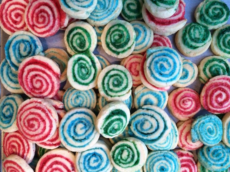 Colorful Pinwheel Cookies | Kosher Scoop - great 4 mishloach manot!
