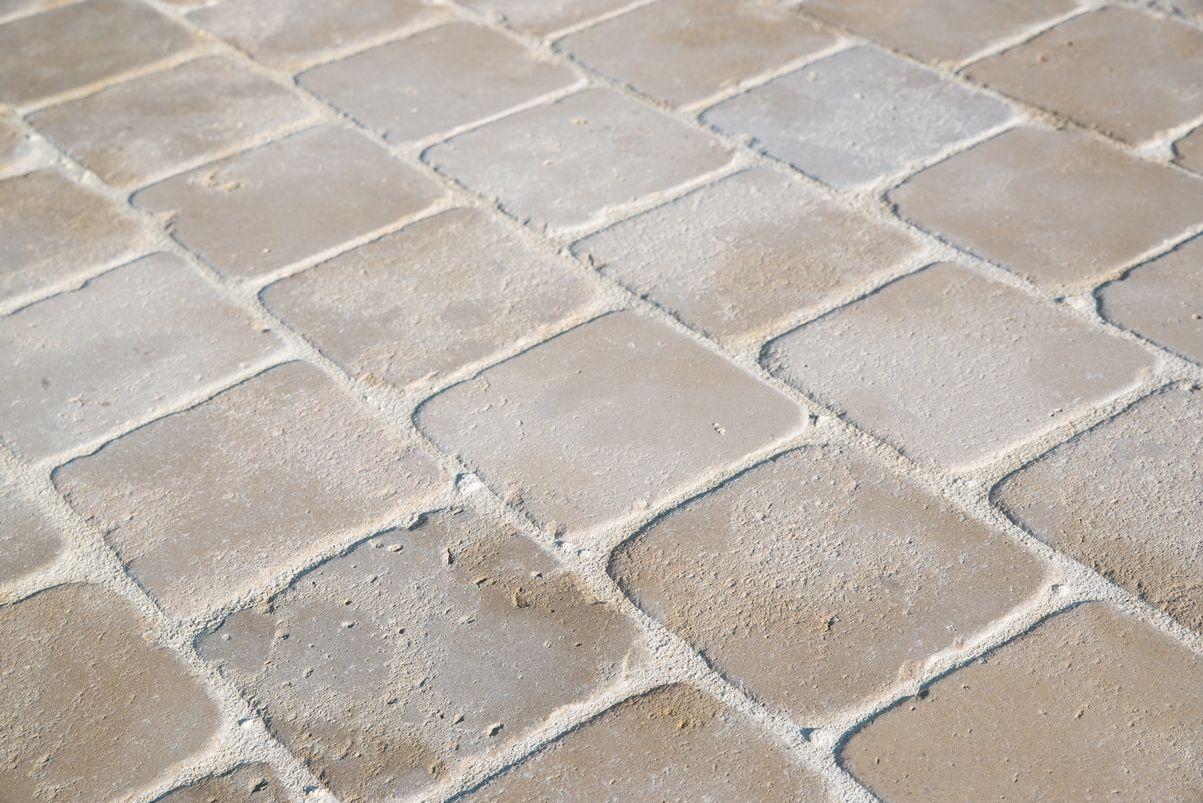 Comment Nettoyer Terrasse Pierre Naturelle pavé mera beige en pierre naturelle - 3 épaisseurs