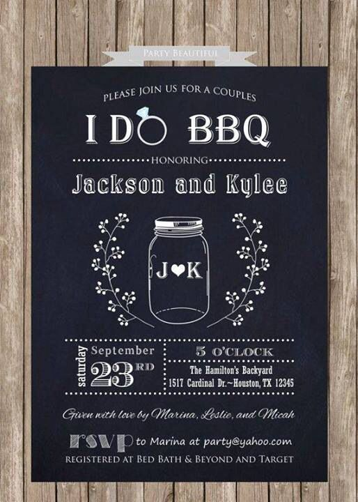 I like this idea for an engagement party invite.