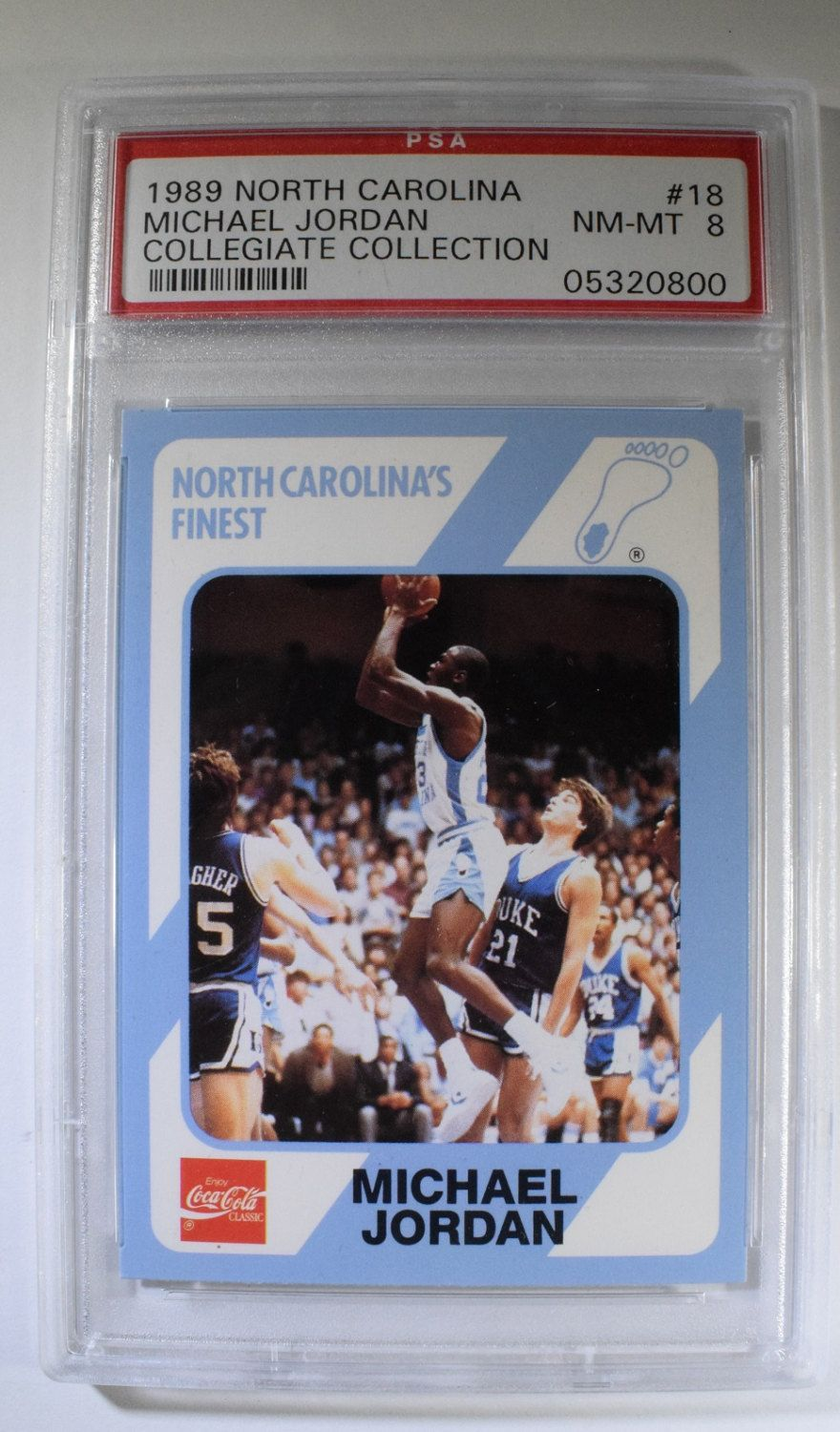Michael Jordan Coca Cola Trading Card No 18 By