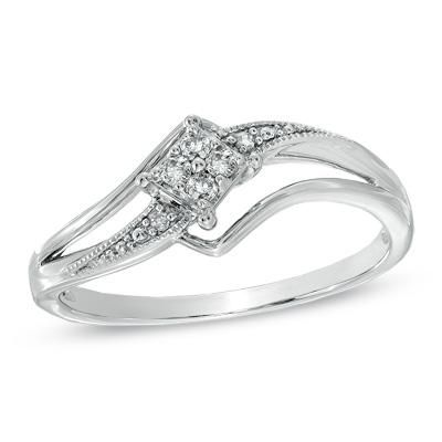 Cherished Promise Collection™ Diamond Accent Splendid Promise Ring in Sterling Silver   Size 6 blingpinner.com