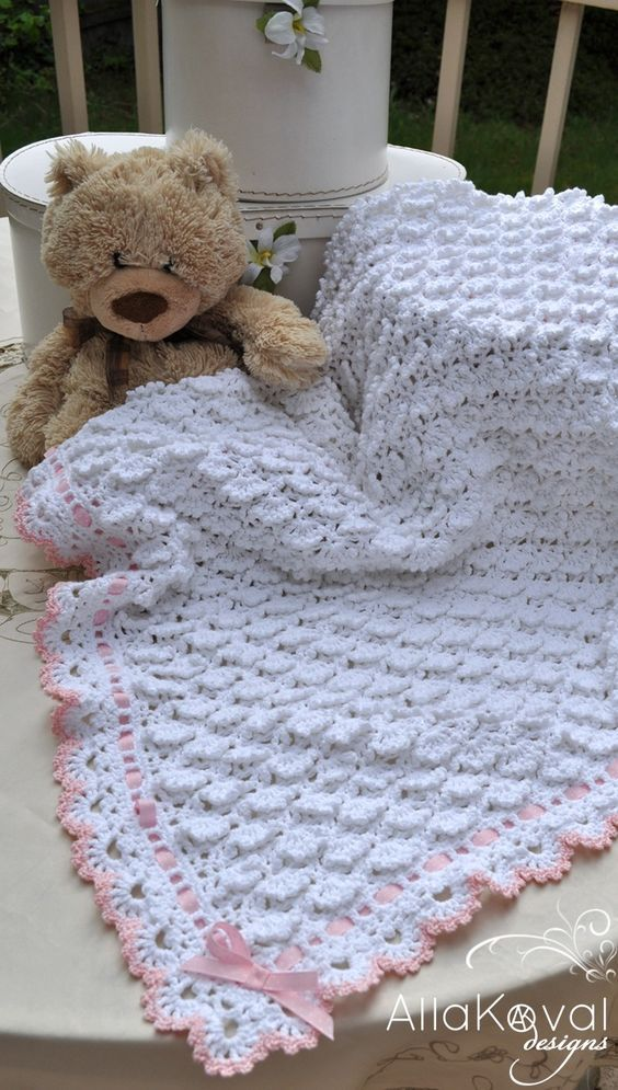 Free Baby Crochet Patterns Fluffy Clouds Crochet Baby Blanket
