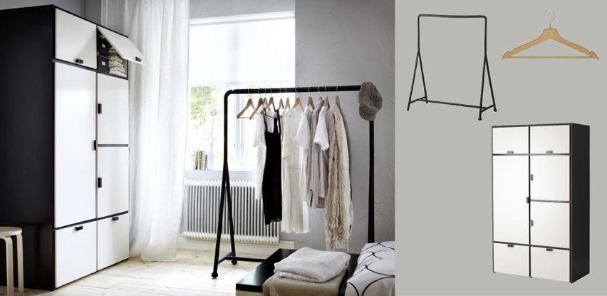 odda armoire en noir blanc avec portes et tiroirs et turbo portant ikea pinterest tiroir. Black Bedroom Furniture Sets. Home Design Ideas