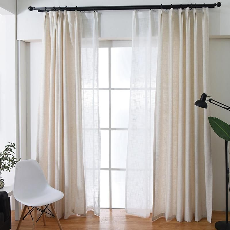 American Style Linen Window Curtains For Living Room Half Shade Curtains For Bedroom S Linen Curtains Living Room Living Room Drapes Beige Curtains Living Room