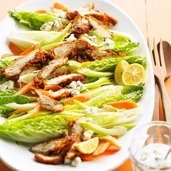 easy Buffalo Chicken Cobb salad
